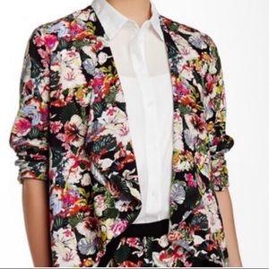 Elodie Jackets & Coats - Elodie Floral Print Open Front Blazer Sz L